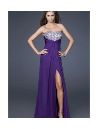 Chiffon Sweetheart Strapless Neckline Empire Prom Dress [v1108u1026] - $148.99 : Cheap Prom Dresses,Party Dresses,Evenning Dresses,etc...Online.