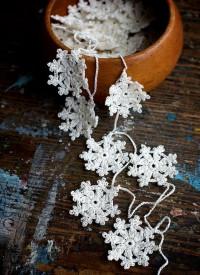 Crochet Garland petit napperon Buntingguirlande de par namolio