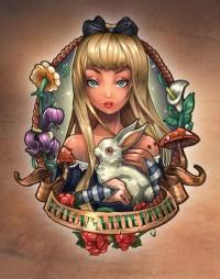 Follow The White Rabbit. Art Print by Tim Shumate | Society6