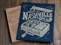 Visit Nashville Today - Block Print by Derrick Castle