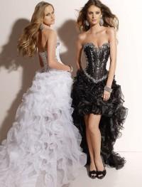 Organza Sweetheart Strapless Neckline A-Line Prom Dress with Lavish Ruffles High-Low Skirt [v1125u1113] - $198.99 : Cheap Prom Dresses,Party Dresses,Evenning Dresses,etc...Online.