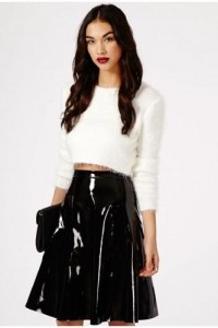 Missguided Mikako PVC Full Midi Skirt – We Want!