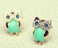 shego shopping mall — [GRDX02105]GREEN OWL EARRINGS