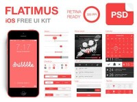 Flatimus iOS Free UI Kit by Satys