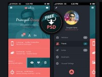 Mobile UI (Free PSD) by Madan Patil