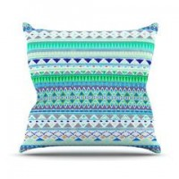 "Nika Martinez ""Emerald Chenoa"" Throw Pillow 