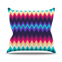 "Nika Martinez ""Surf Chevron"" Throw Pillow 