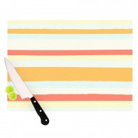 "Nika Martinez ""Sand Stripes"" Cutting Board 