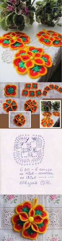 DIY Crochet Flower Coaster DIY Projects | UsefulDIY.com