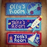 Personalised Childrens Wooden Door Plaque sign ANY NAME!! nursery gift idea | eBay