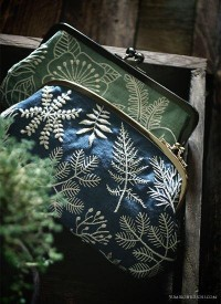 Blue and green embridery pouch . by yumiko higuchi | Art, artists.