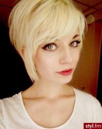 Fryzury Blond w?osy: Fryzury Krótkie Na co dzie? Proste z grzywk? Rozpuszczone Blond - Kasiuuulka - 2430251