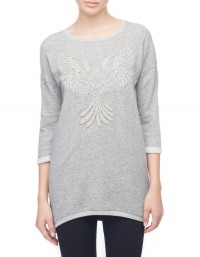 Long sweatshirt with eagle illustration - SWEATSHIRT - COLLECTION -Stradivarius Serbia