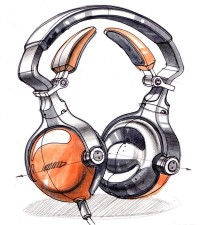 Sketch-A-Day 59: Headphone Doodle | Sketch-A-Day | Sketches by Spencer Nugent