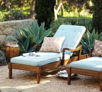 Faraday Single Chaise & Cushion | Pottery Barn