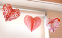 Fabric Valentine hearts garland | How About Orange