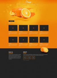 Orange – Free PSD Web Template - FreebiesXpress
