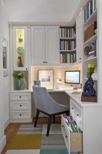 Painted Maple Corner Office - Inspiration DE