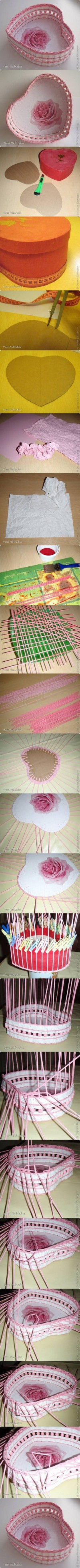 DIY Heart Paper Basket DIY Projects | UsefulDIY.com