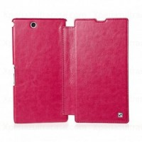 Brief Texture Leather Flip Cover Case For Xperia Z Ultra Xl39H Hot Pink