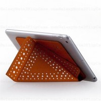 Momax Cool Dot Stand Leather Cover Case for iPad Air Orange