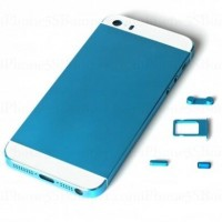 Cool Replacement Aluminium Alloy Metal Battery Cover for iPhone 5S Sky Blue