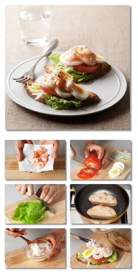 Shrimp Egg Sandwich