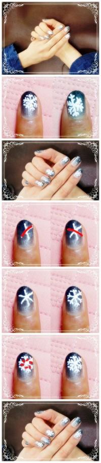 Nail Art_snow flake pattern
