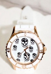 shego shopping mall — [grzxy61500008]Punk Style Skull Print Watch for Lovers