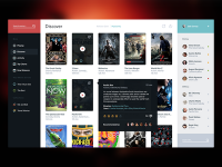 2. Movie Service UI by Victor Erixon