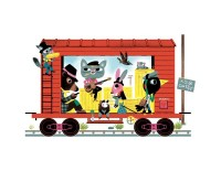 Adorable Illustrations in Marc Boutavant's 'Train Puzzle' - The Fox Is Black