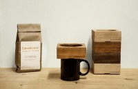 canadiano wooden coffee maker brews a cup at a time
