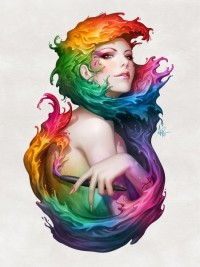 Angel of Colors Art Print by Artgerm™ | Society6