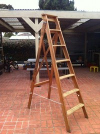 OLD Vintage Wooden Ladder | eBay