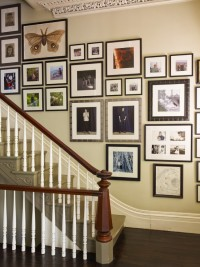 Decorating: Traditional Staircase Picture Idea For Hall Or Family Room Gallery Wall To Hold All Of Your Favorites At Once, Alcove Wall, Textured Wall ~ Aureasf Home