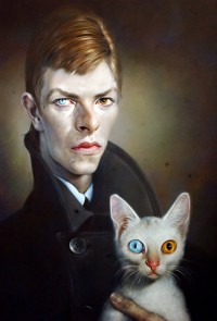 David Bowie & Cat ~ by Sebastian Kruger | cats 2