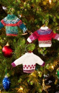 Noel Knit Sweater Ornaments Knitting Pattern | Red Heart