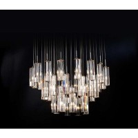 Trend Lighting Diamante 96 Inch Height 4-Sided Cut Crystal Chandelier - eFurniture Mart