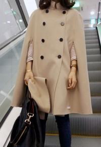 shego shopping mall — [grzxy6600807]Elegant Glamorous Celebrity Batwing Irregular Cape Stand Collar Overcoat