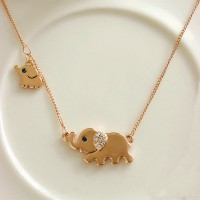 shego shopping mall — [grzxy61000001]Fashion Cute Rhinestone Elephant Pendant Necklace