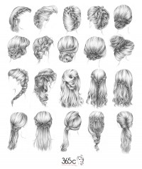 hair illustration for a parisian corner - Inspiration DE