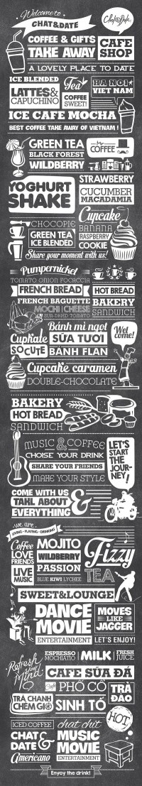 Typography Decoration for Chat&Date - Inspiration DE