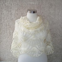 SPECIAL SALE Pretty Ivory Mohair Rectangle by Starknitting