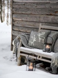 Love the idea of placing a warm blanket & ... | Outdoor Decor: Fall &…