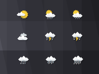 gray weather icon by see