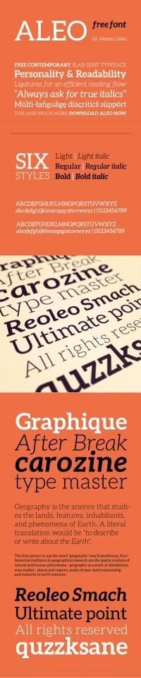 Aleo Free Font - FreebiesXpress