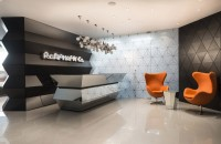 Innovative geometric structure of pharmaceutical office by Geometrix Design