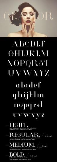 Glamor – Chic & Modern Free Type Family - Inspiration DE
