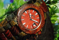 shego shopping mall — [grlhx1150004]Red mahogany wooden watch