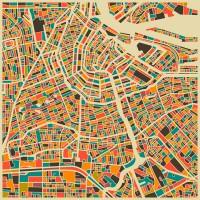 Amsterdam Art Print by Jazzberry Blue | Society6